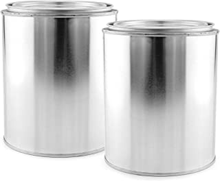 empty metal paint tins