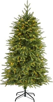 """5ft. Vancouver Fir """"Natural Look"""" Artificial Christmas Tree with 350 Clear LED Lights and 1054 Bendable Branches"""