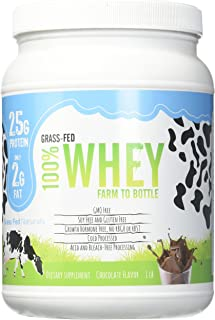 Grass Fed Natural Whey Undenatured 100% Grass Fed Whey Protein Powder, US Farm to Bottle, GMO, Soy, Gluten Free, No Preser...