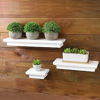 3 estantes flotantes blancos   Conjunto de 3 estantes de pared   Accesorios de almacenamiento en estanterías   Estante de ...