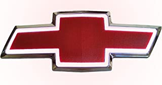 GM FRONT Grille LED Light up Emblem Bowtie Compatible With 2007-13 Chevrolet (Red and White)