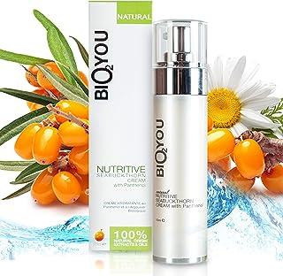 Natural Nutritive Seabuchtorn crema facial con extracto de manzanilla de aloe vera y aceite de coco