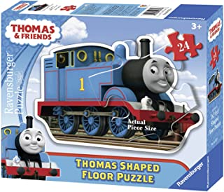 Ravensburger Thomas & Friends: Thomas The Tank Engine 24 Piece Shaped Floor Jigsaw Puzzle for Kids – Every Piece is Uniqu...