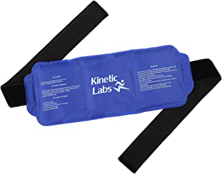Reusable Ice Pack for Injuries and Pain Relief by Kinetic Labs – Gel Hot & Cold Pack with Strap – Best Ice Pack for Back Knee Shoulder Hip Thigh Leg Neck Head Ankle Feet Fever Surgery