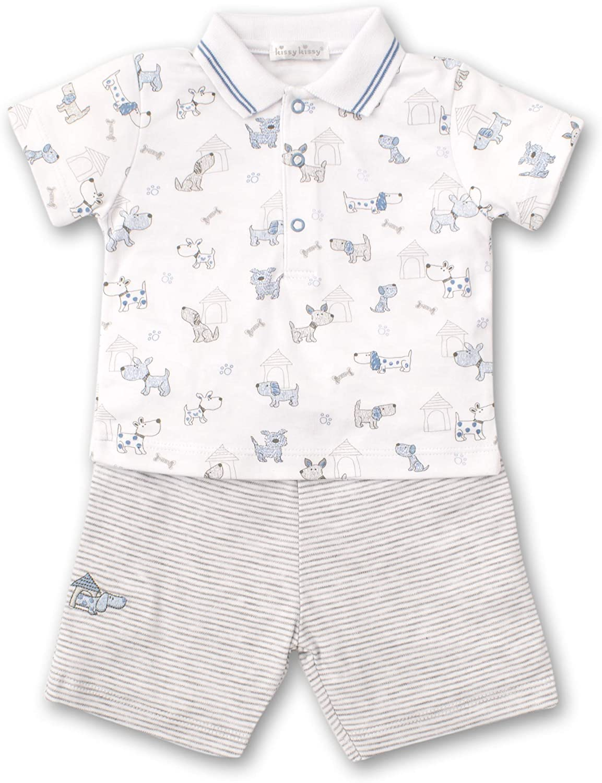 Kissy Kissy Baby-Boys Infant Pint-Size Pups Bermuda Short Set with Collar