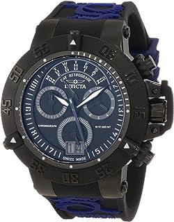 Invicta Men's 10186 Subaqua Noma III Chronograph Black Dial Black and Blue Silicone Watch
