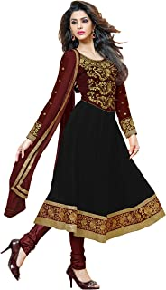 black velvet anarkali dress