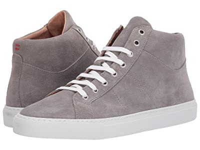 eleventy Mid Top Suede Sneaker (Grey) Men