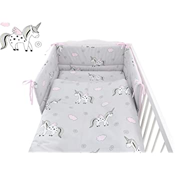 to fit cot 120x60 cm, 1 - Pink spots for cot // cotbed Babys Comfort HEARTS 7 PCS BABY BEDDING SET 12 NEW COLOURS