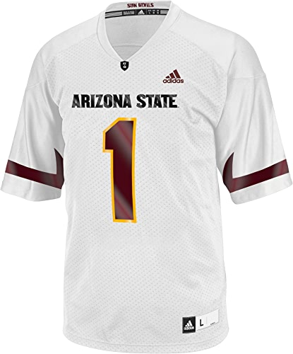 Adidas NCAA Arizona State Sun Devils Hommes's 3-Stripe Football Jersey, grand, jaune