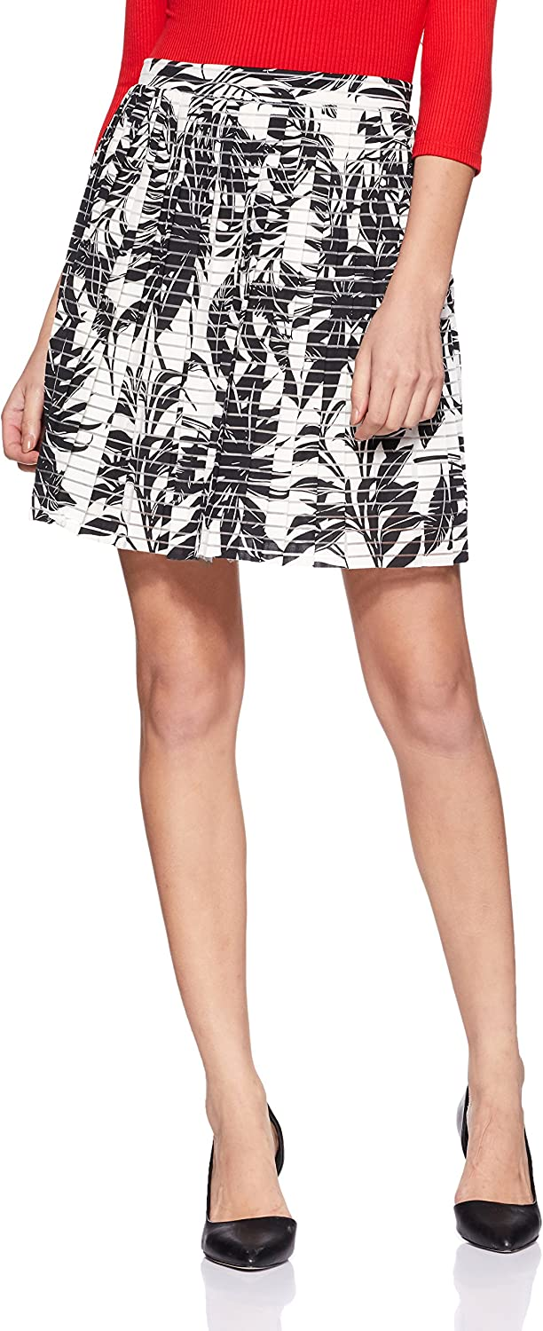 VERO MODA Women's Nia Mia High Waist Printed Short Skirt