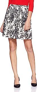 فيرو مودا تنورة قصيرة نيا ميا بخصر مرتفع وبتصميم مطبوع للنساء