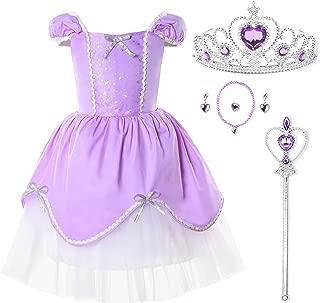 JerrisApparel Girl Princess Aurora Belle Rapunzel Costume Fancy Party Dress-Up