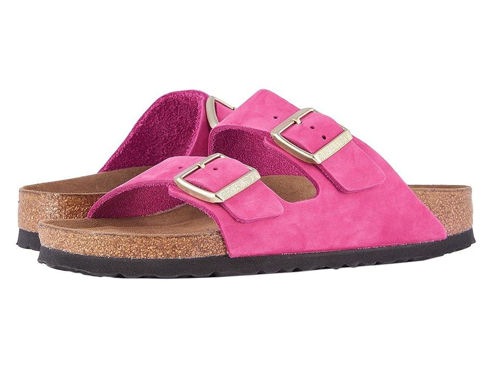 Birkenstock Arizona Soft Footbed (Shocking Pink Nubuck) Women