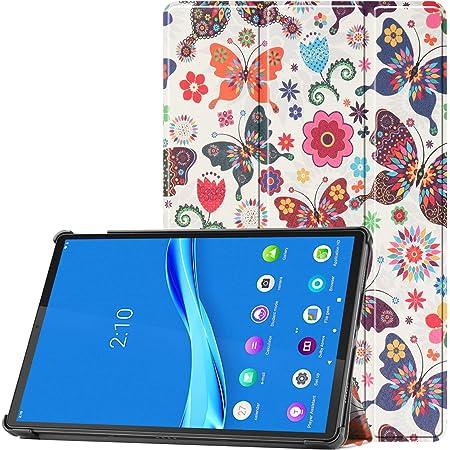 HoYiXi Custodia per Lenovo Tab P11 TB-J606F 11 Pollice 2020 Tablet PU Custodia Ultra Sottile Tri-Fold Custodia Protettiva Tablet Cover per 11 Pollici Lenovo Tab P11 TB-J606F 2020 - Farfalla