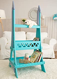 FeliFam Kids shelves wooden bookcase Bookshelf decor Nursery furniture Christmas gift for baby Eiffel Tower (Paris, France), Collection: Romantic