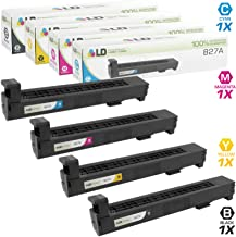LD Remanufactured Toner Cartridge Replacement for HP 827A (Black, Cyan, Magenta, Yellow, 4-Pack)