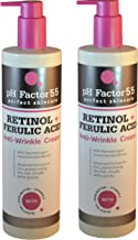 PH Factor 5.5 Retinol Cream for face and body with Ferulic Acid. Anti-Sagging cream Targets Crepey Skin and wrinkles. Anti-Aging Cream with Retinol and Ferulic Acid.15oz bottle (Two - 15oz)