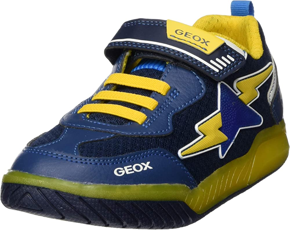 Geox j inek boy b, scarpe da ginnastica basse bambino - ragazzo,in pelle sintetica e tessuto J029CB014BU