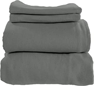 Whisper Organics 有机棉法兰绒床单套装 由 GOTS 认证 深灰色 两个 43234-471