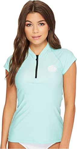 Rip Curl - Belle Cap Sleeve 1/2 Zip UV Tee