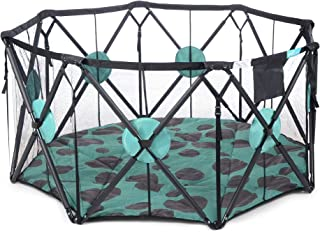 Milliard Playpen Portable Playard with Cushioning for Safety, for Travel, Indoor and Outdoor Play Yard Pen (X-Large)