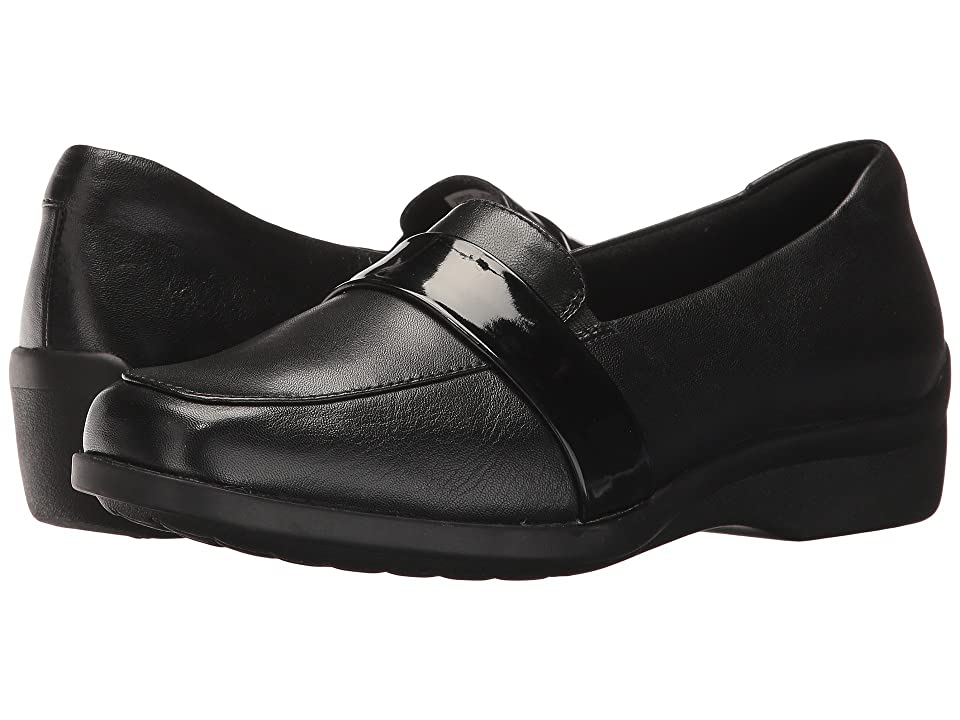 Aravon Winsor Moc (Black Leather) Women
