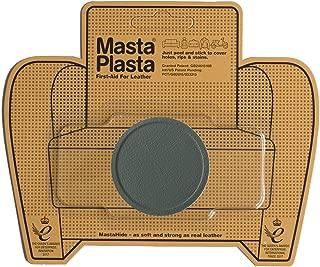 MastaPlasta Self-Adhesive Patch for Leather and Vinyl Repair, Small Circle, Grey - 2 Inch Diameter