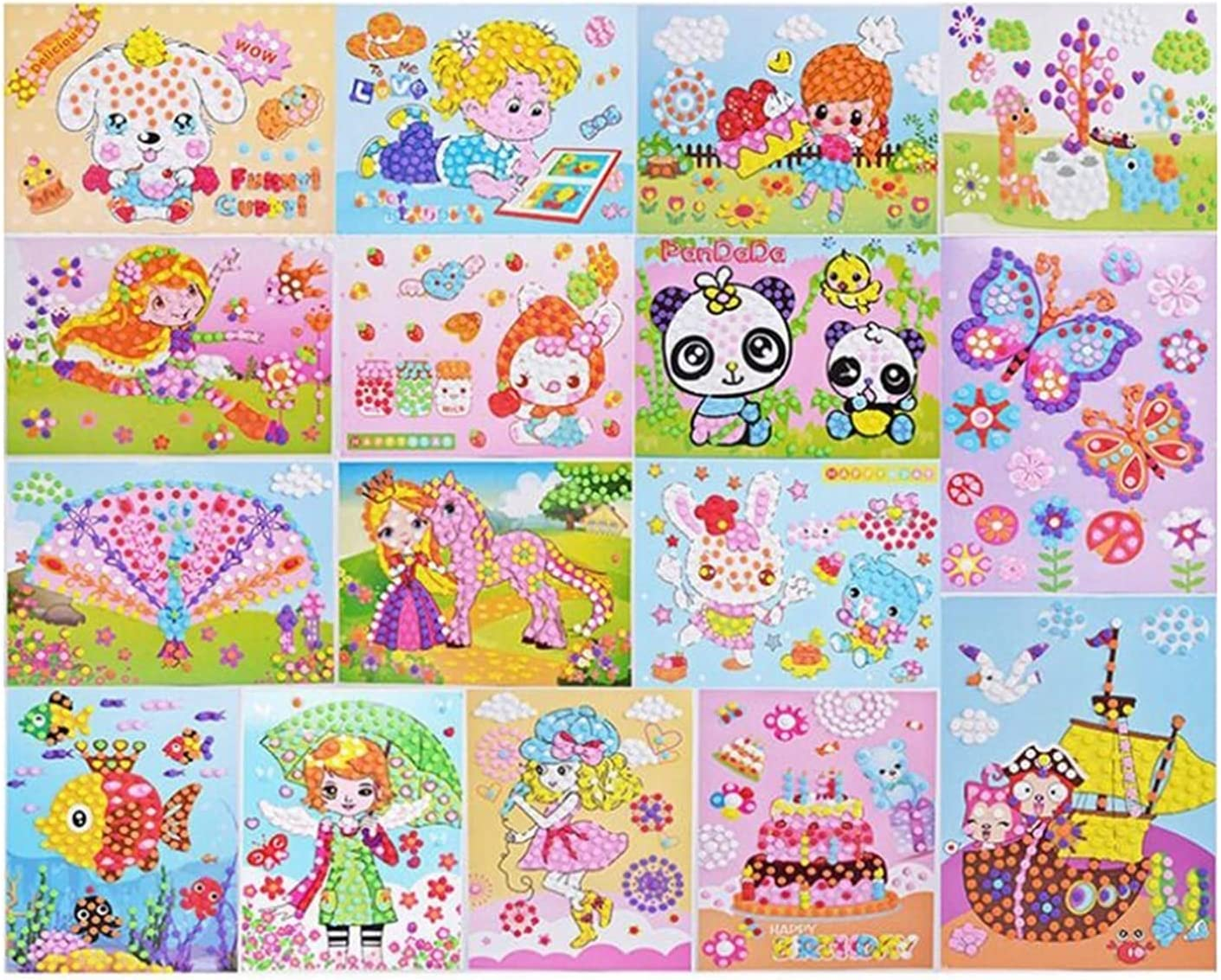 NOTEface Max 78% OFF Stickers for Kids 10pcs Sales of SALE items from new works Sticky 3D Mosaics Puz Dots