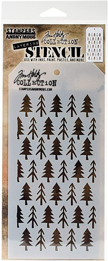 Stampers Anonymous THS096 Tim Holtz Layered Stencil 4.125
