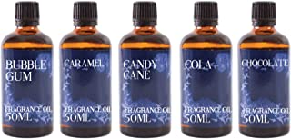 Mystic Moments | Lot de 5 flacons de 50 ml – Sweet Shop – Huile parfumée.