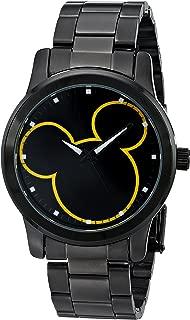 Disney Unisex W001989 Mickey Mouse Analog Display Analog Quartz Black Watch