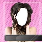 Fotomontaggio di stile di capelli della donna