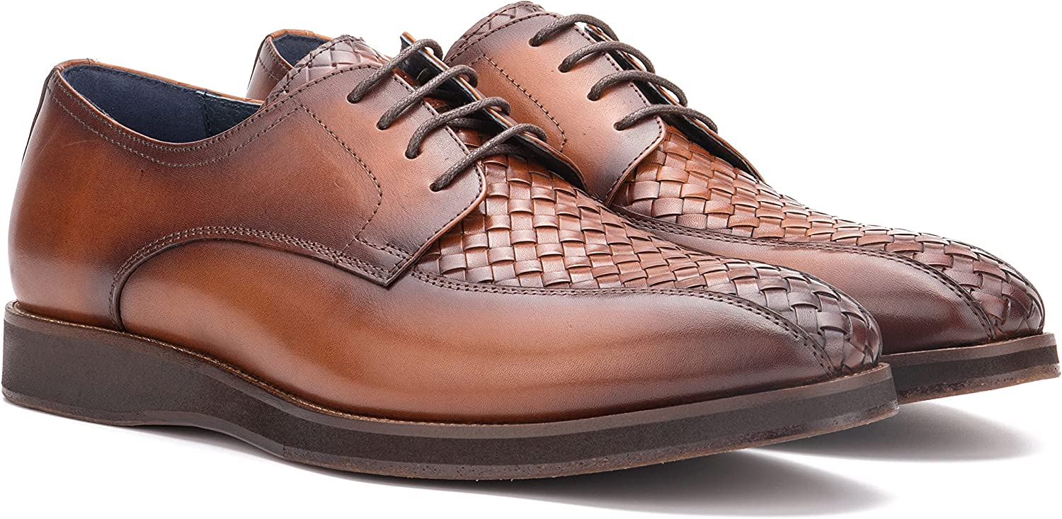 Vintage Foundry Co. Thornton Men's Fashion Handcrafted Classic Formal Leather Lace-Up Shoe-Oxford, Plain Toe, Rubber Outsole