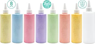 8-Pack Tovla Leak-Proof Plastic Squeeze Bottles with White Cap (8 oz) Ideal for Sauce, Ketchup, BBQ, Dressing, Paint, Workshop, Pancake Art, and More