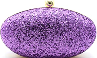 Tooba Women's Clutch (Purple Chini Oval_Purple)