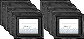 MCS Wedding Photo Frame/Placecard Holder, 69039, 24-Pack, Black