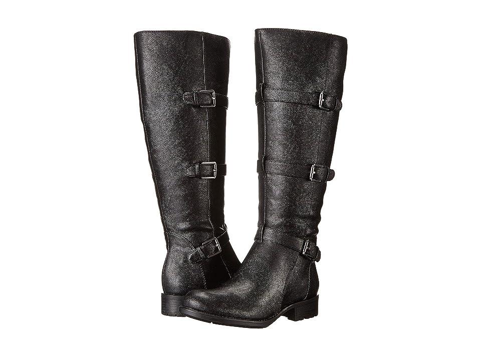 Franco Sarto Petite Wide Shaft (Black Leather) Women
