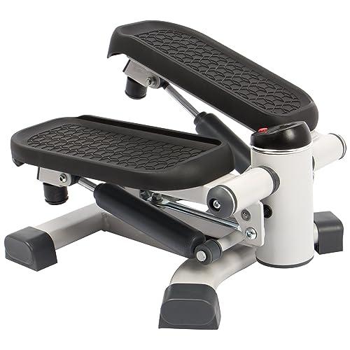 SportPlus - 2 in 1 Mini Stepper - Technologie Dual way brevetée - Mouvements latéraux et horizontaux pour un Entraînement en profondeur - Poids max de l'Utilisateur: 100kg - Vérins hydrauliques