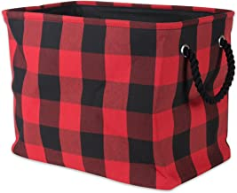 DII Polyester Storage Basket or Bin with Durable Cotton Handles, Home Organizer Solution for Office, Bedroom, Closet, Toys...