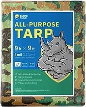 GUARD RHINO Camouflage Tarp 9x9 Feet Multi Purpose Waterproof Poly Tarp Cover 5mil