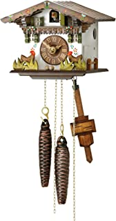 Hubert Herr Cuckoo Clock Little Black Forest House with Moving Chickens