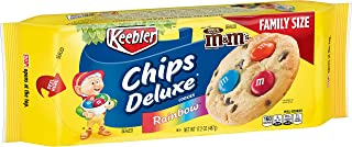Keebler Chips Deluxe, Cookies, Rainbow, with M&M's Chocolate Candies, 17.2 oz