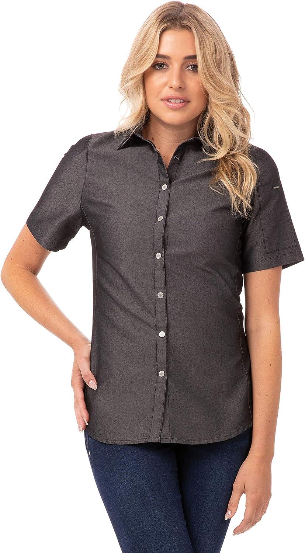 Chef Works Women's ☆正規品新品未使用品 Denim 新作製品、世界最高品質人気! Shirt Detroit