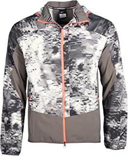 Men's Packable Printed Trail Kiger Running Jacket-Gray-Small