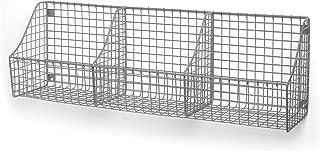 Spectrum Diversified Wall Mount Triple Storage Basket, Satin Nickel
