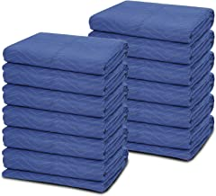 12 Moving Packing Blankets - 80 x 72 Inches (35 lb/dz) Heavy Duty Moving Pads for Protecting Furniture Professional Quilte...