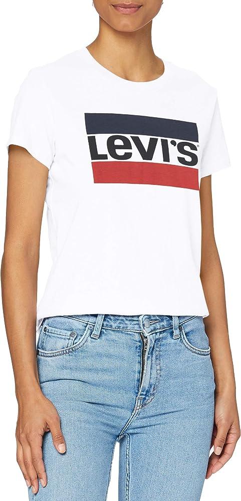 Levi`s pl perfect tee maglietta da donna a maniche corte 100% cotone 17369A