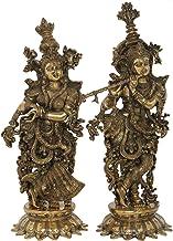 Fine Quality Radha Krishna - Brass Statue