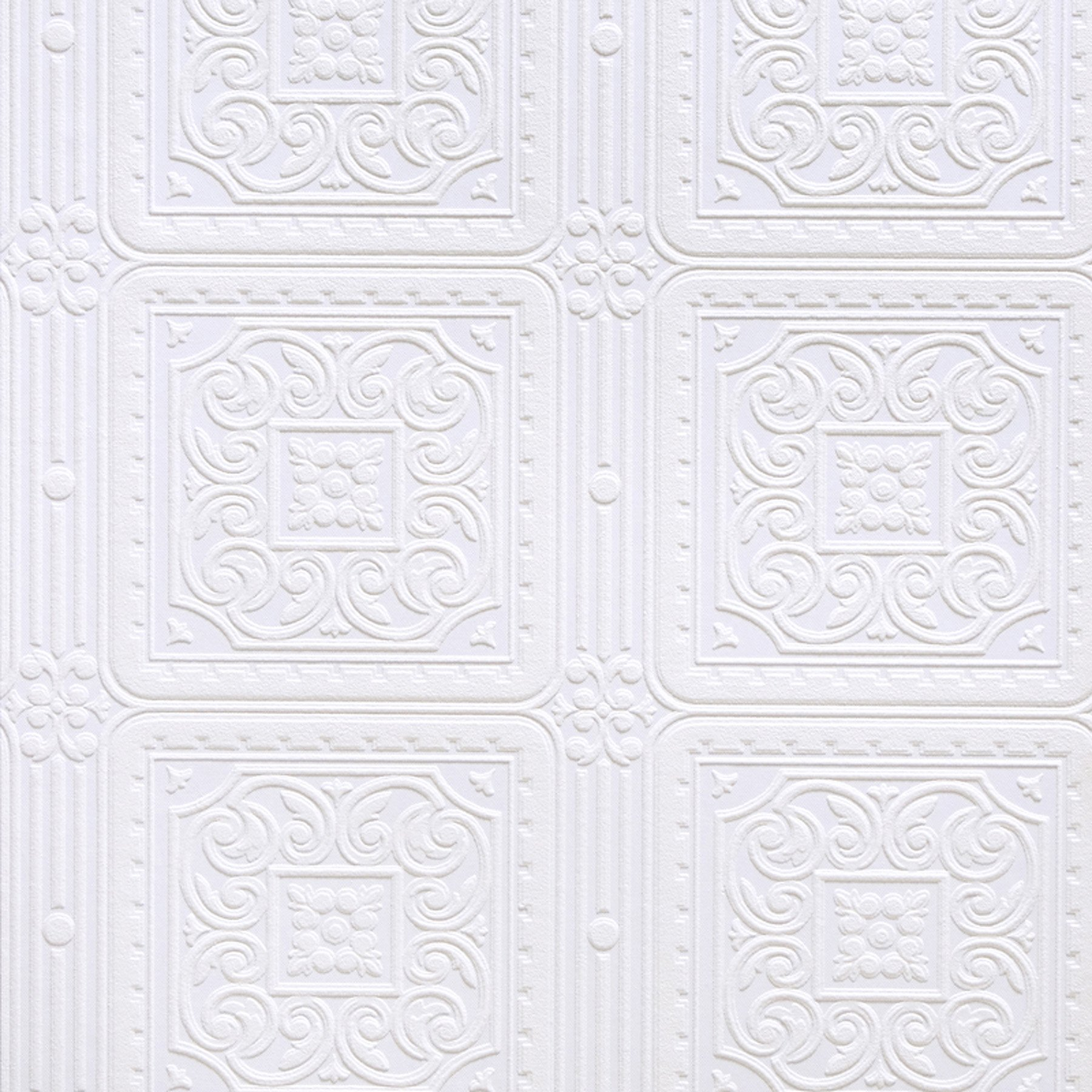 21-Inch by 396-Inch White Brewster RD336 Anaglypta Paintable Thick Weave Wallpaper